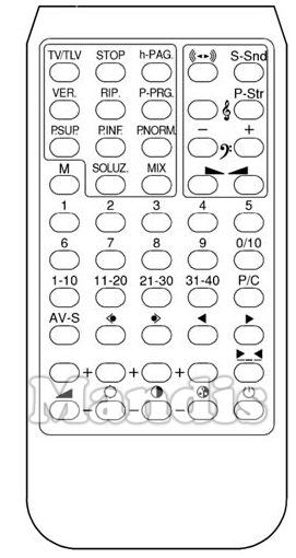 EMERSON DIGIT TELETEXT original remote control
