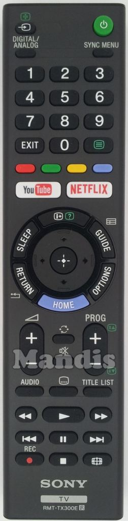 Replacement Remote Control for SONY BRAVIA TV Model KD-49XE7096