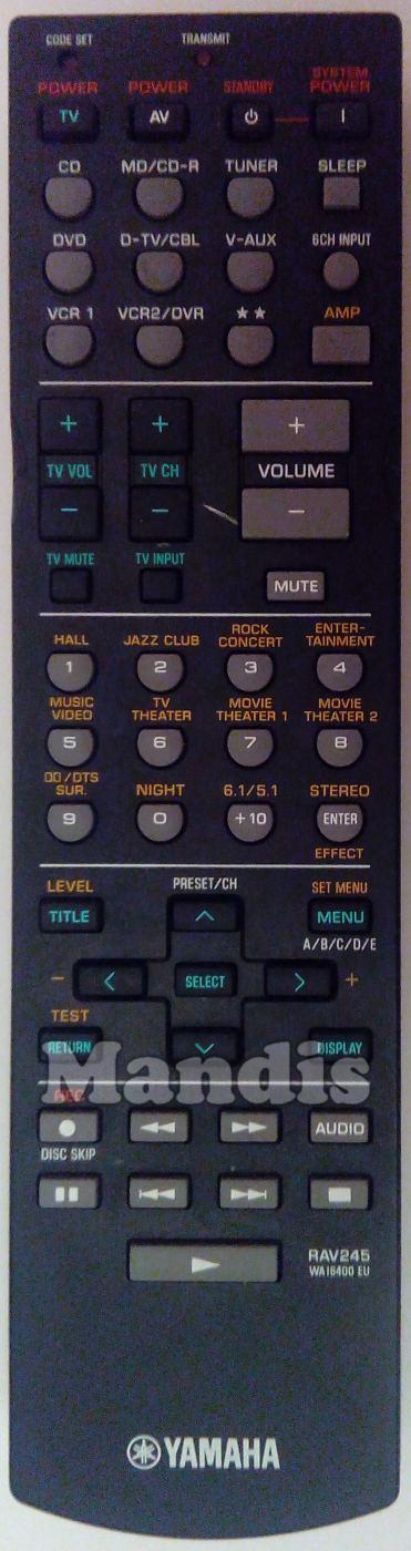 RAV245 (WA164000) original remote control