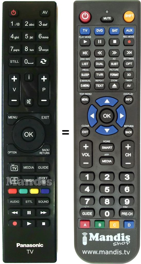 Replacement remote control RC4861