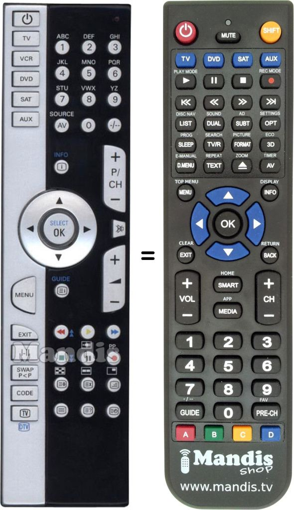Replacement remote control for 40032267