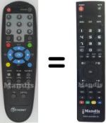 Replacement remote control NEWSAT RNT5000