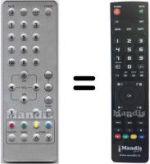 Replacement remote control ADL RJ-2306E