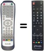 Replacement remote control MUSTEK LT32G-A