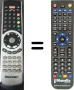 Replacement remote control DREAMSKY NXP256HD