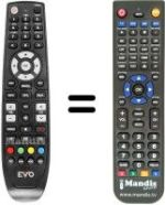 Replacement remote control EVO ENFINITY