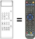 Replacement remote control TV Star ET 5101