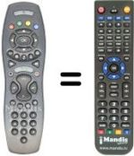 Replacement remote control Alice ADSL TV