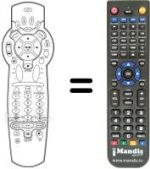 Replacement remote control DVICO TVIX HD-M 5000 A