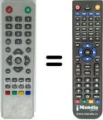 Replacement remote control EGLEMTEK TV-110