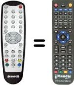 Replacement remote control BENZEX MTR-9100