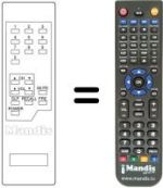 Replacement remote control Gm CTV 151