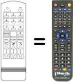 Replacement remote control INT CE 3733