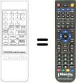 Replacement remote control VASILINEC CT 88 B