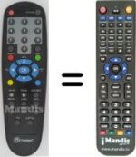 Replacement remote control NEWSAT RNT 5000
