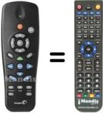 Replacement remote control Seagate FREE THEATRE +