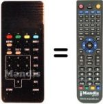 Replacement remote control EURORA 2000 (D2 MAC / DMAC)