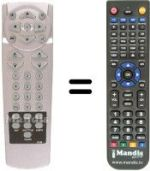 Replacement remote control BEC DB 6800 IRCI (CAM REMOTE)