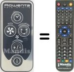 Replacement remote control Rowenta CS-00142774
