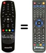 Replacement remote control MaaxTV LN4000