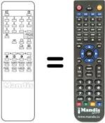 Replacement remote control Teknant 9363TXT-14'