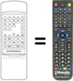 Replacement remote control MADISON TVC85550