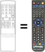 Replacement remote control Kotron P1401