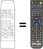 Replacement remote control DYNASAT DSR3000