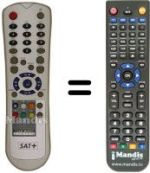 Replacement remote control SAT+ HDR20