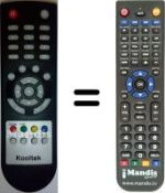 Replacement remote control KOOLTEK S316