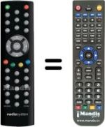 Replacement remote control MEDIA SYSTEM M5000