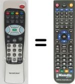 Replacement remote control MAXVIEW RG405-DT5