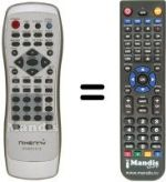 Replacement remote control NIKENNY DVD-S151S