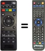 Replacement remote control TVBOX M8S