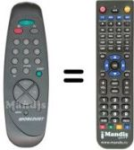 Replacement remote control MONTEREY WS55