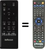 Replacement remote control INFOCUS IN112