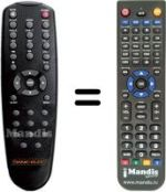 Replacement remote control DANE-ELEC SO SPEAKY