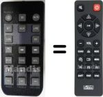 Replacement remote control JAY-TECH HVS50469